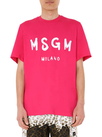 MSGM Paint Brush Logo T-Shirt