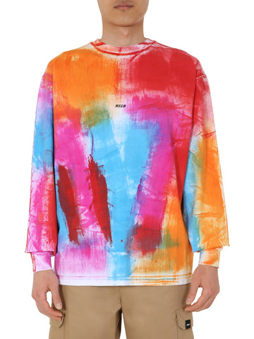 MSGM Paint Pattern Long-Sleeve T-Shirt