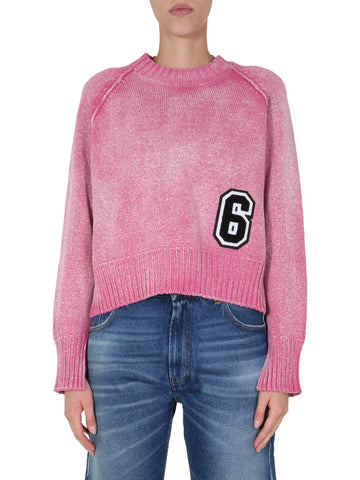 Mm6 Maison Margiela Patch Knitted Sweater