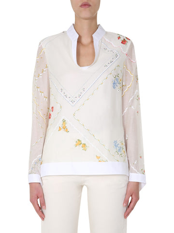 Tory Burch Handkerchief Printed Tunic