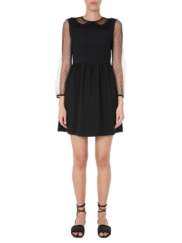 Red Valentino Tulle Sleeve Dress
