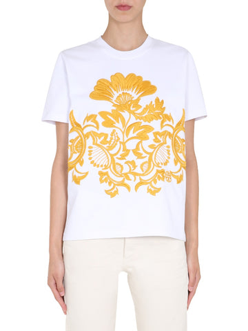 Tory Burch Floral Embroidered T-Shirt
