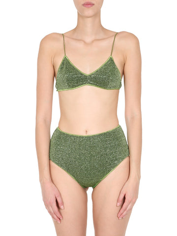 Oséree Lurex High-Rise Bikini Set
