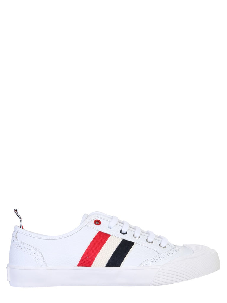 Thom Browne Stripe-Detailed Low-Top Sneakers