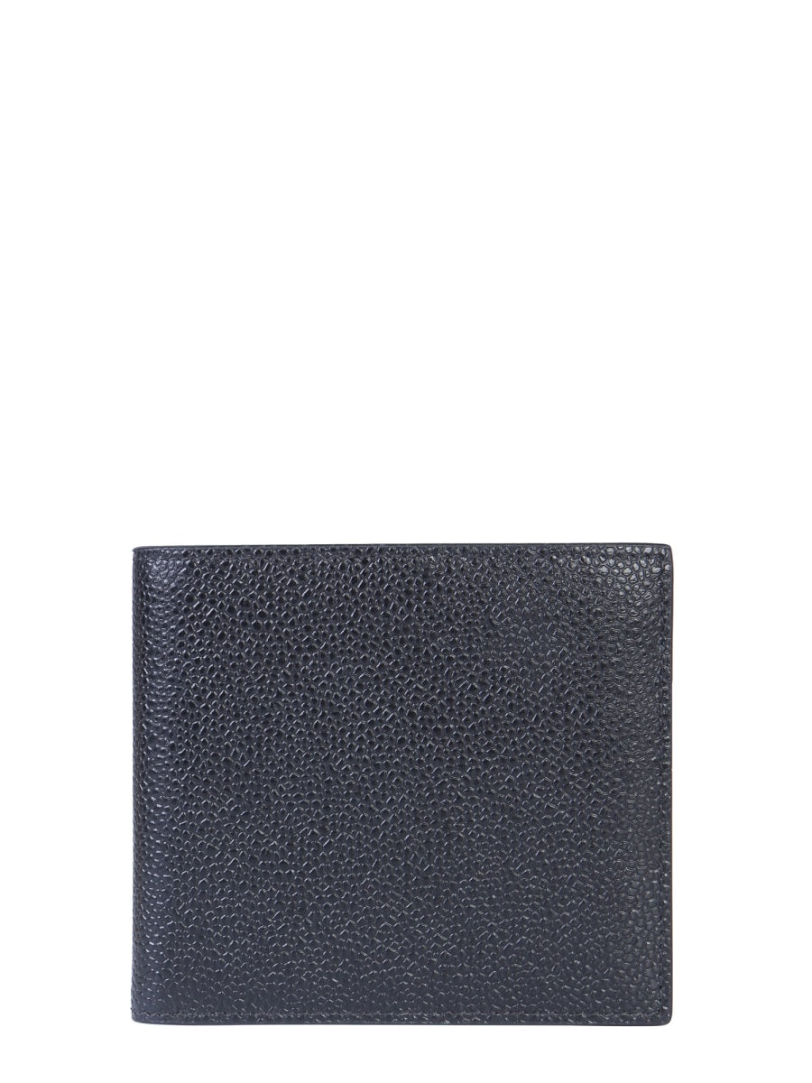 Thom Browne THOM BROWNE PEBBLED BIFOLD WALLET