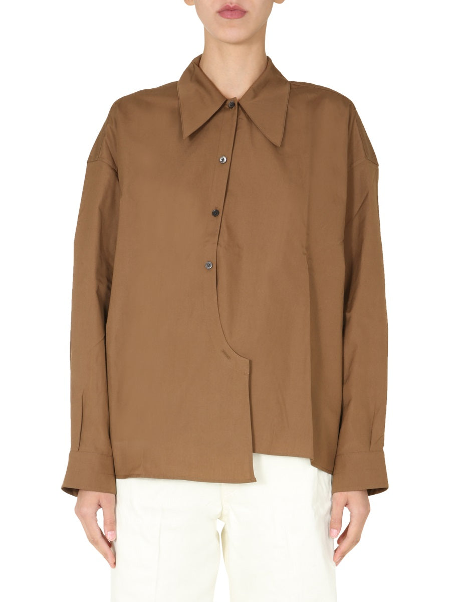 LEMAIRE LEMAIRE OVERSIZED WRAP AROUND SHIRT