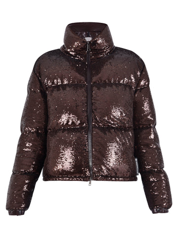 Moncler Sequin Embellished Padded Jacket
