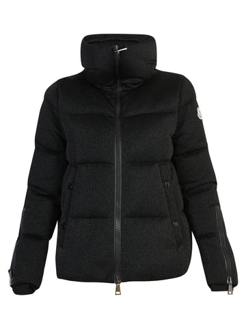 Moncler Oversized Collar Logo Patch Puffer Jacket