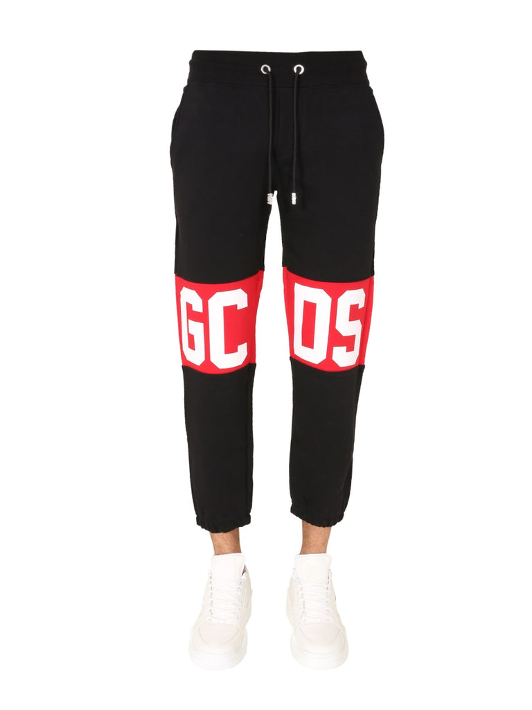 Gcds Black Trousers With Logo