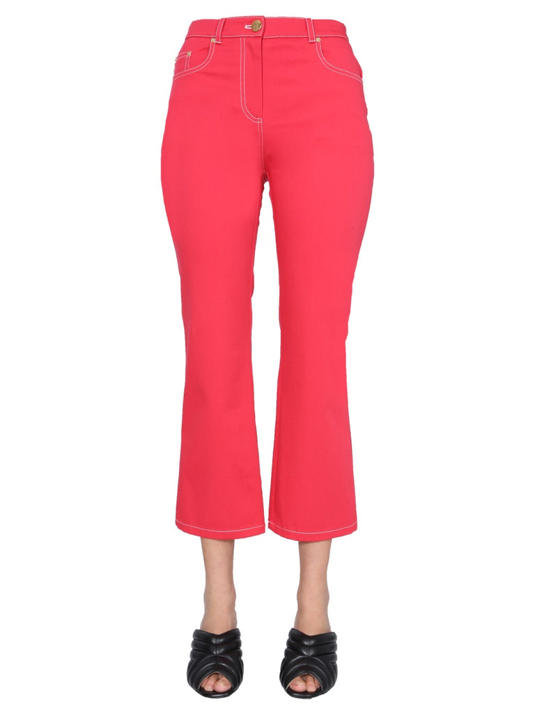 Boutique Moschino BOUTIQUE MOSCHINO FLARED CROPPED JEANS