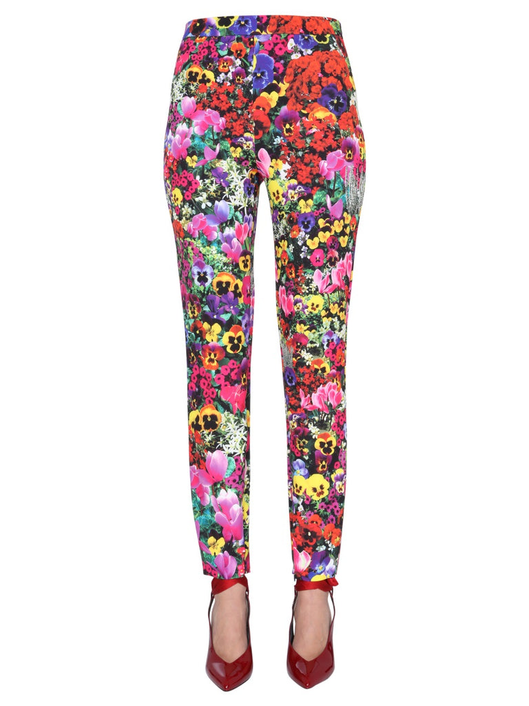Boutique Moschino Leggings BOUTIQUE MOSCHINO FLORAL PRINTED PANTS