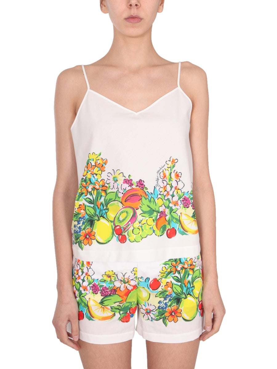 Boutique Moschino Cottons BOUTIQUE MOSCHINO FRESH FRUITS CAMISOLE