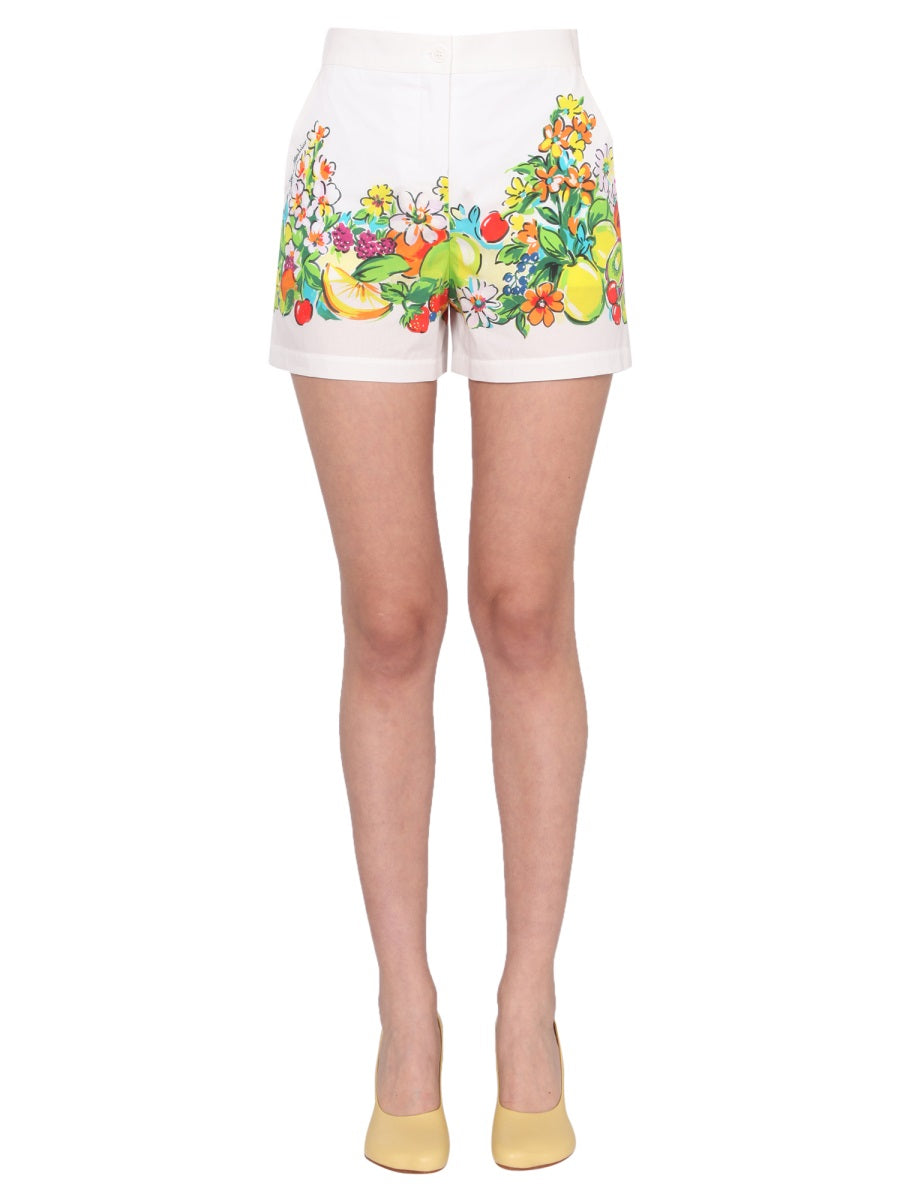 Boutique Moschino BOUTIQUE MOSCHINO FLOWER AND FRUIT PRINT SHORTS