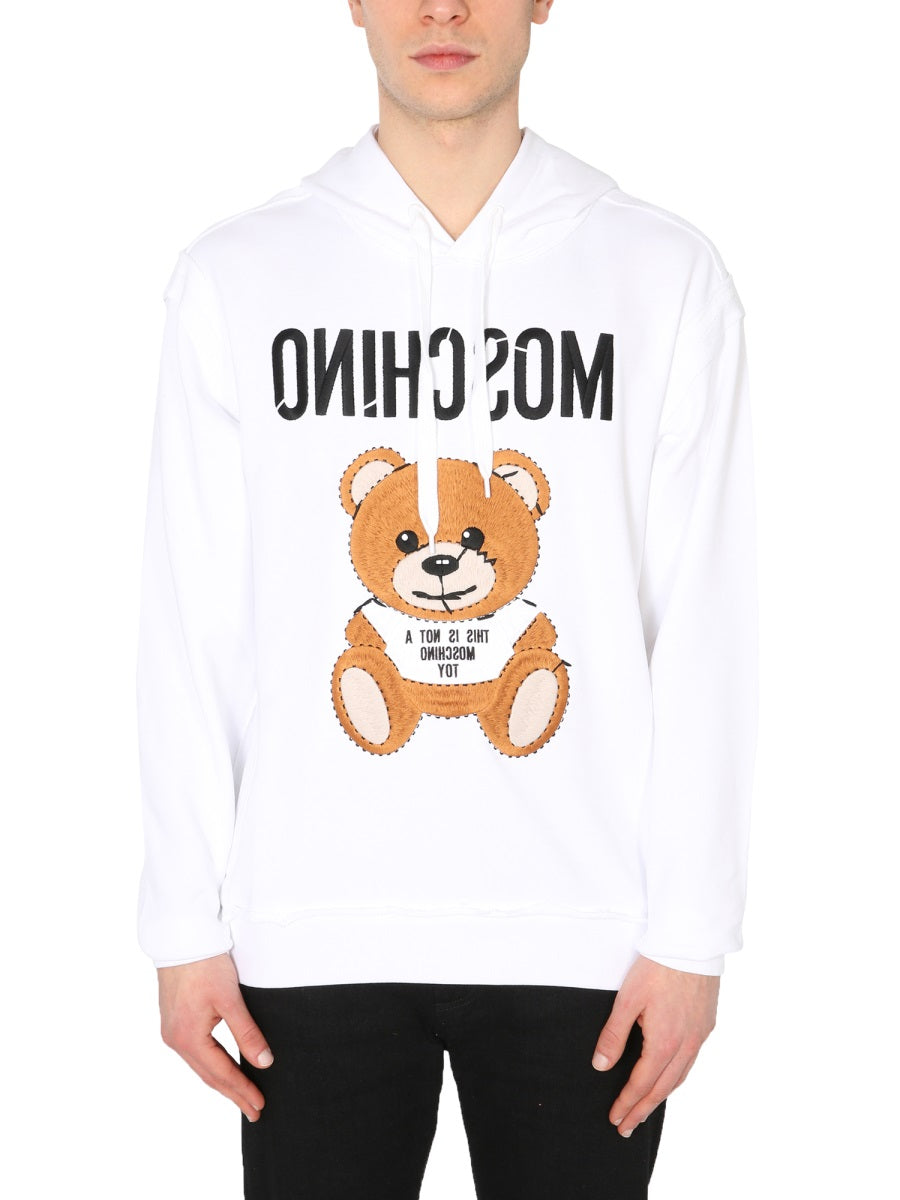 Moschino MOSCHINO INSIDE OUT TEDDY HOODIE