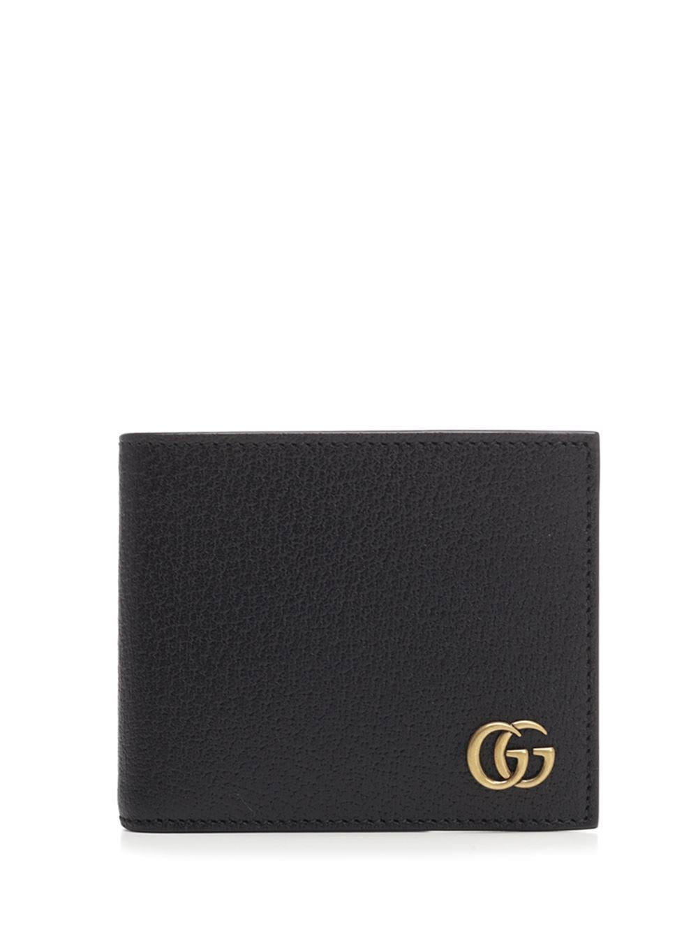 Gucci Gg Marmont Bifold Wallet In Black