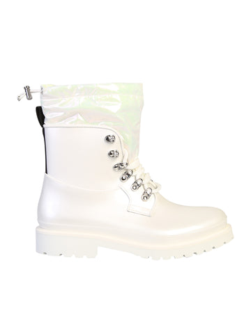 Moncler Logo Tab Lace-Up Boots
