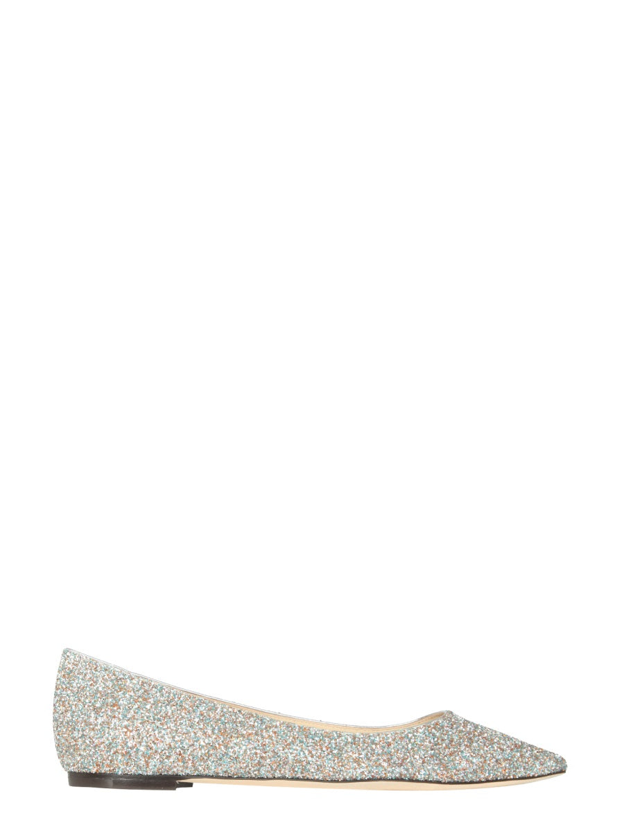 Jimmy Choo Romy Ballerinas In Silver