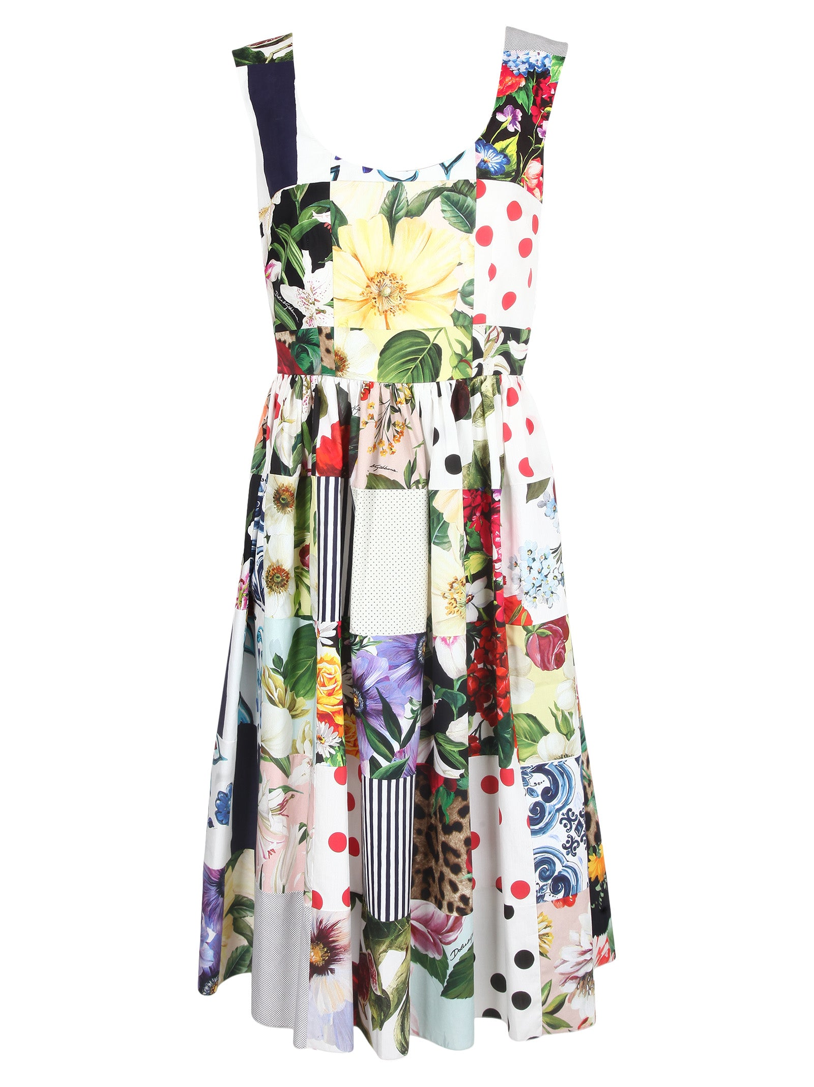Dolce & Gabbana DOLCE & GABBANA FLORAL PATCHWORK DRESS