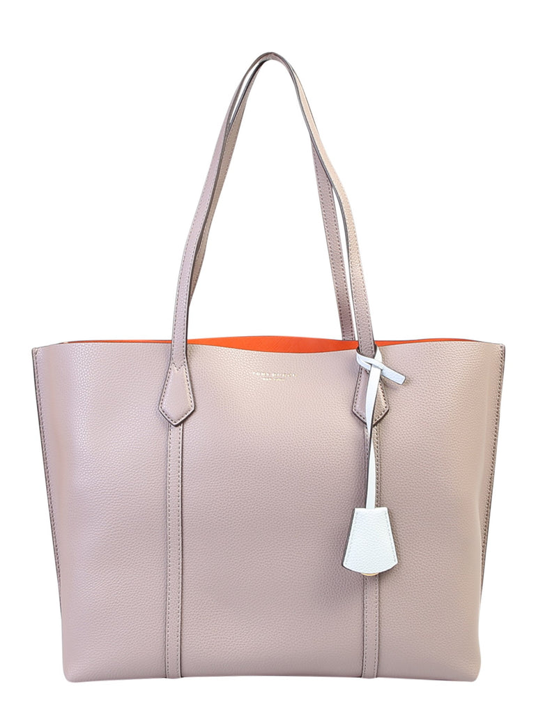 Tory Burch Perry Small Triple-compartment Tote Top Handle Bag In Beige