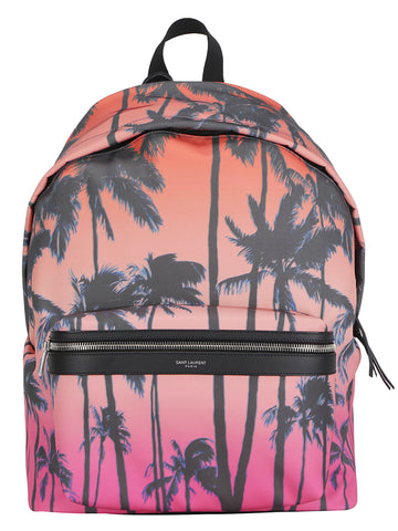 Saint Laurent Palm Print Backpack