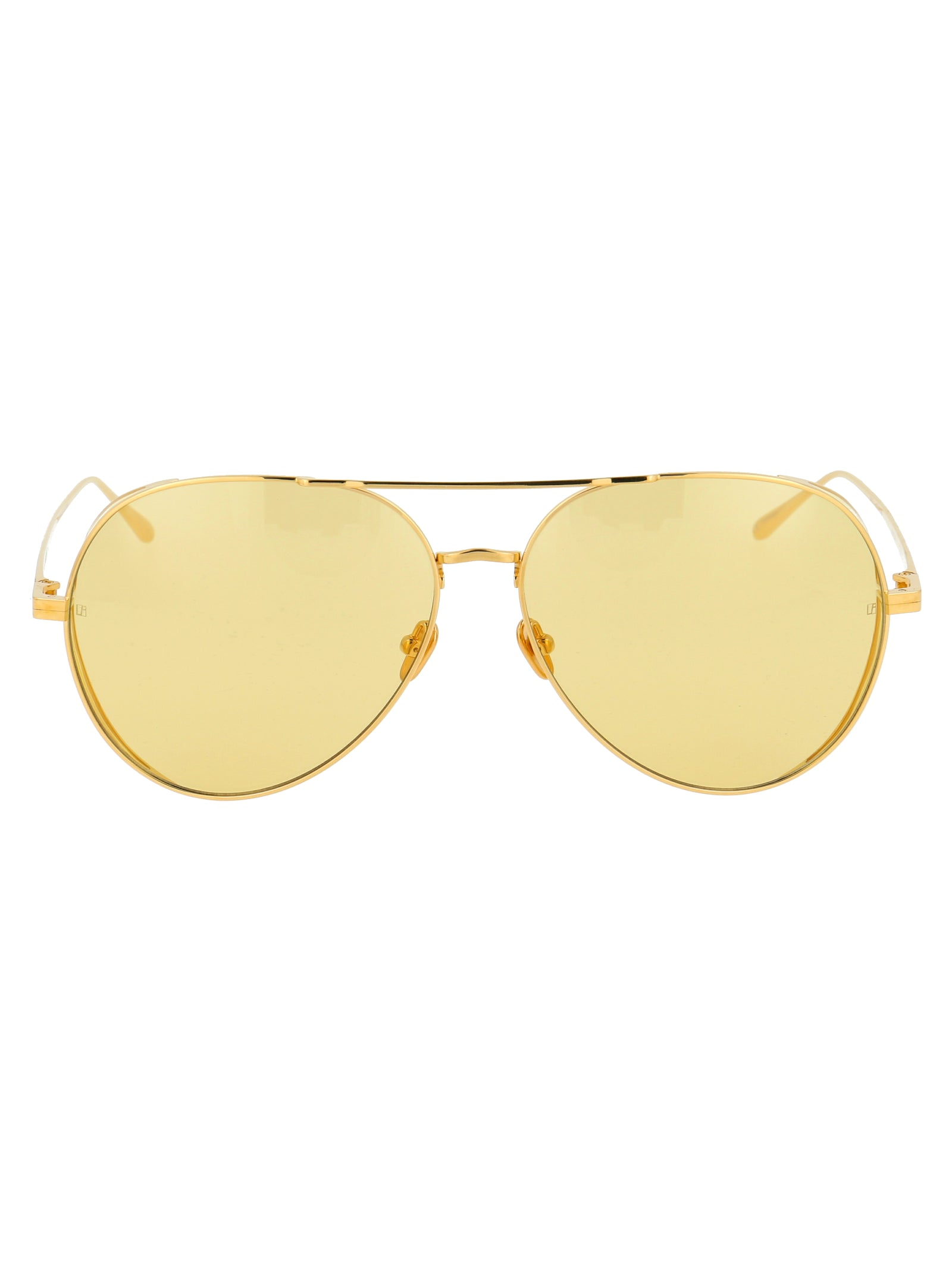 Linda Farrow Sunglasses LINDA FARROW TINTED AVIATOR SUNGLASSES