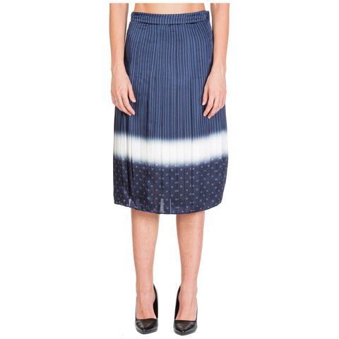Tory Burch Printed Pleated Midi Skirt
