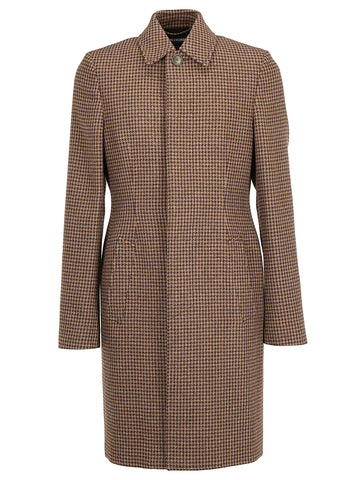 Balenciaga Houndstooth Detail Coat
