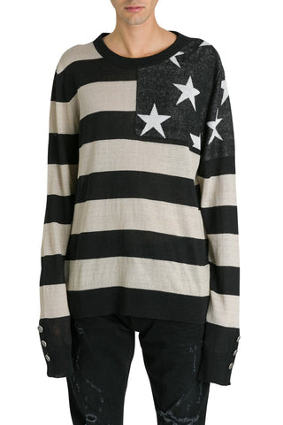 Balmain Flag Striped Jumper