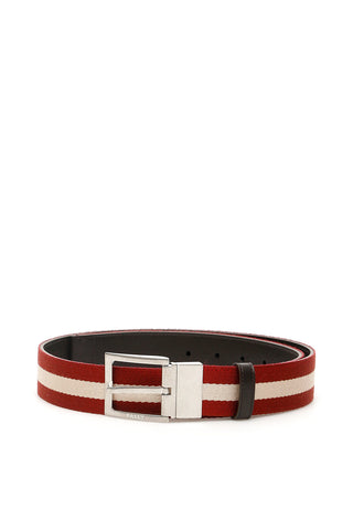 Bally Reversible Striped Belt