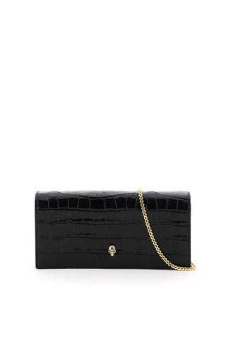 Alexander McQueen Embossed Clutch Bag