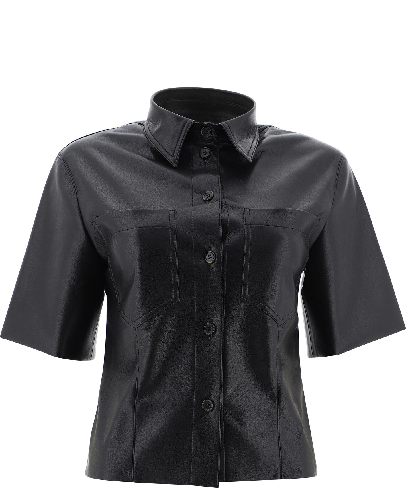 NANUSHKA NANUSHKA SABINE VEGAN LEATHER SHIRT