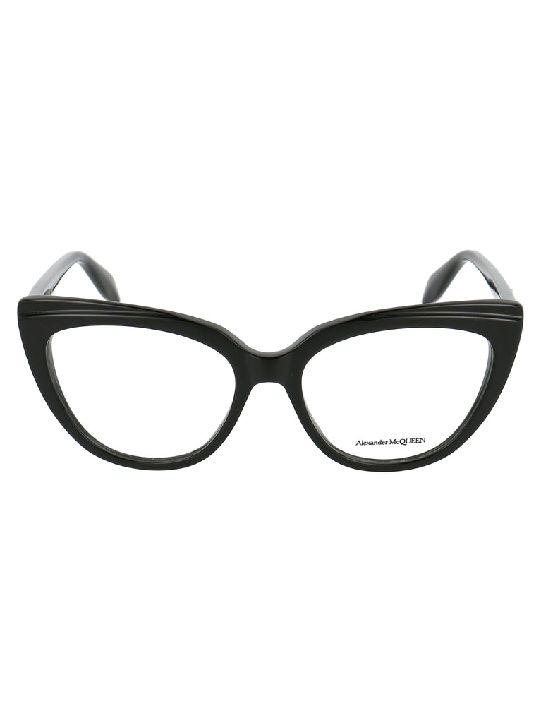 Alexander McQueen Eyewear Cat Eye Frame Glasses