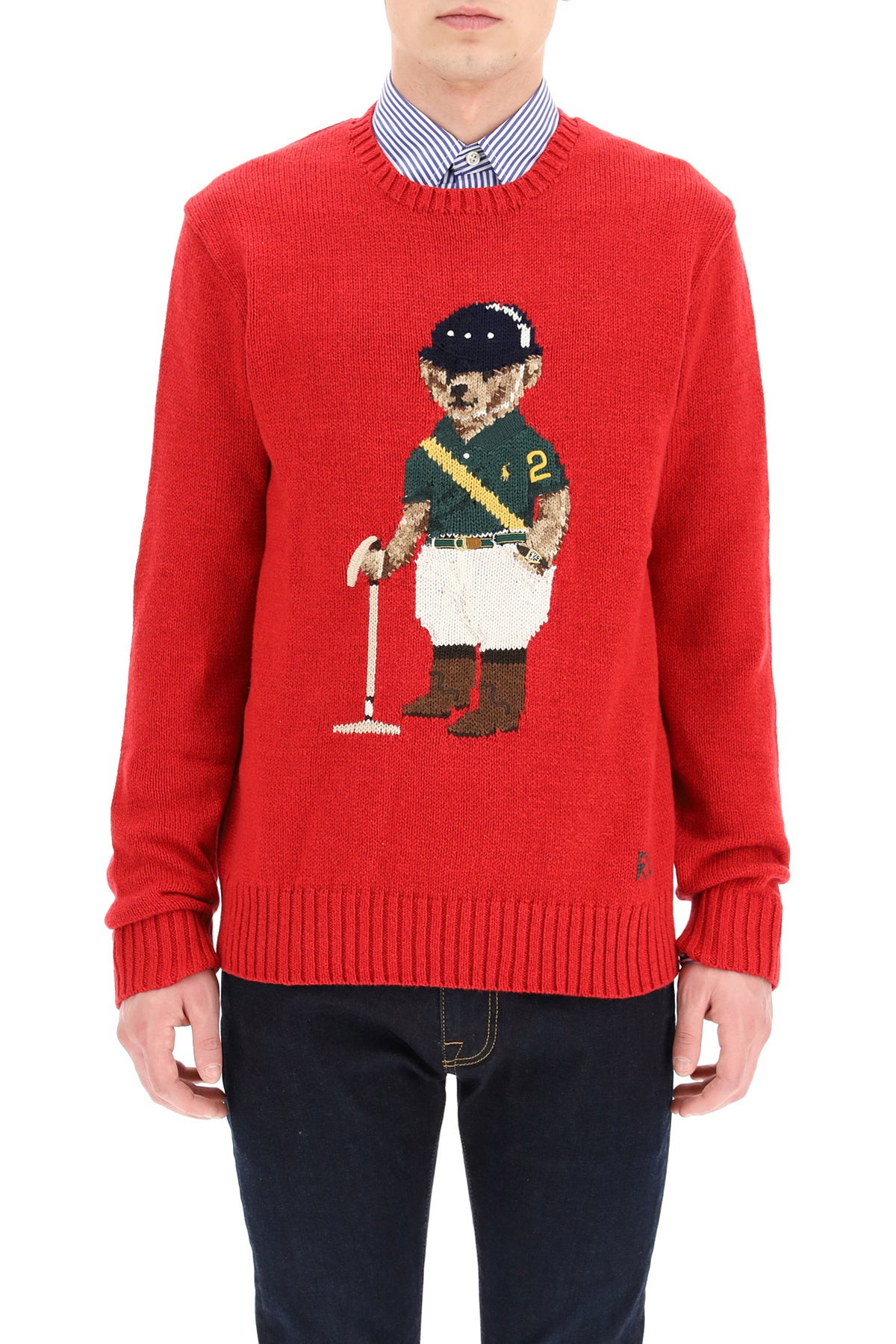 Polo Ralph Lauren POLO RALPH LAUREN POLO PLAYER BEAR INTARSIA SWEATER
