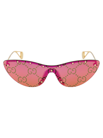 Gucci Eyewear Cat Eye Mask Sunglasses