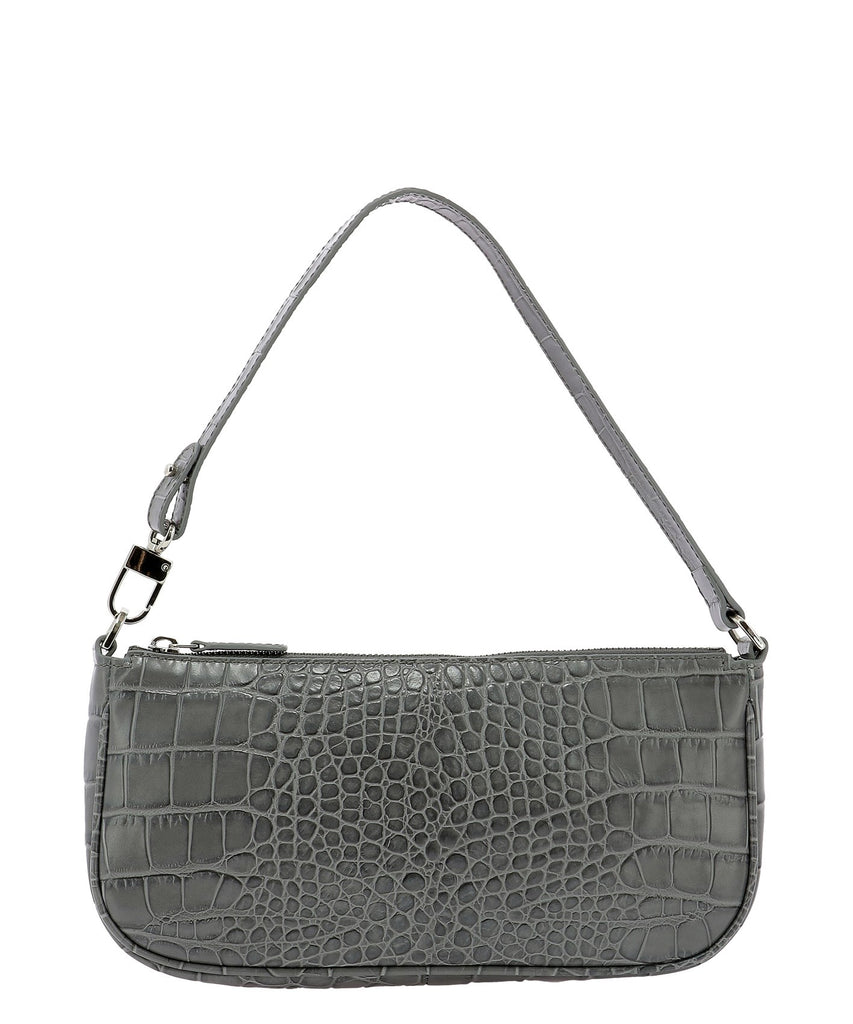 By Far BY FAR RACHEL EMBOSSED SHOULDER BAG