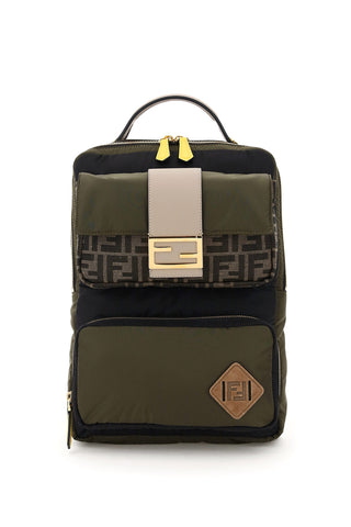 Fendi FF Motif Baguette Pocket Backpack