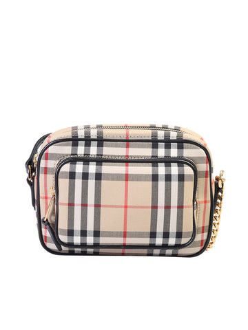 Burberry Vintage Check Zipped Camera Bag