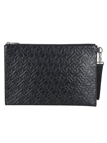 Burberry Embossed Clutch Bag