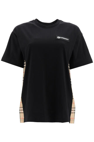 Burberry Vintage Check Panel Oversized T-shirt