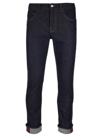 Gucci Tapered Folded Hem Jeans