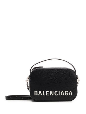Balenciaga Logo Printed Camera Bag