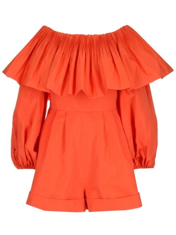 Valentino Off The Shoulder Ruffled Playsuit