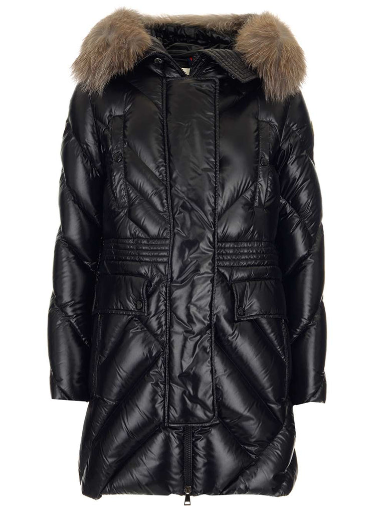 Moncler MONCLER FUR TRIM PADDED COAT
