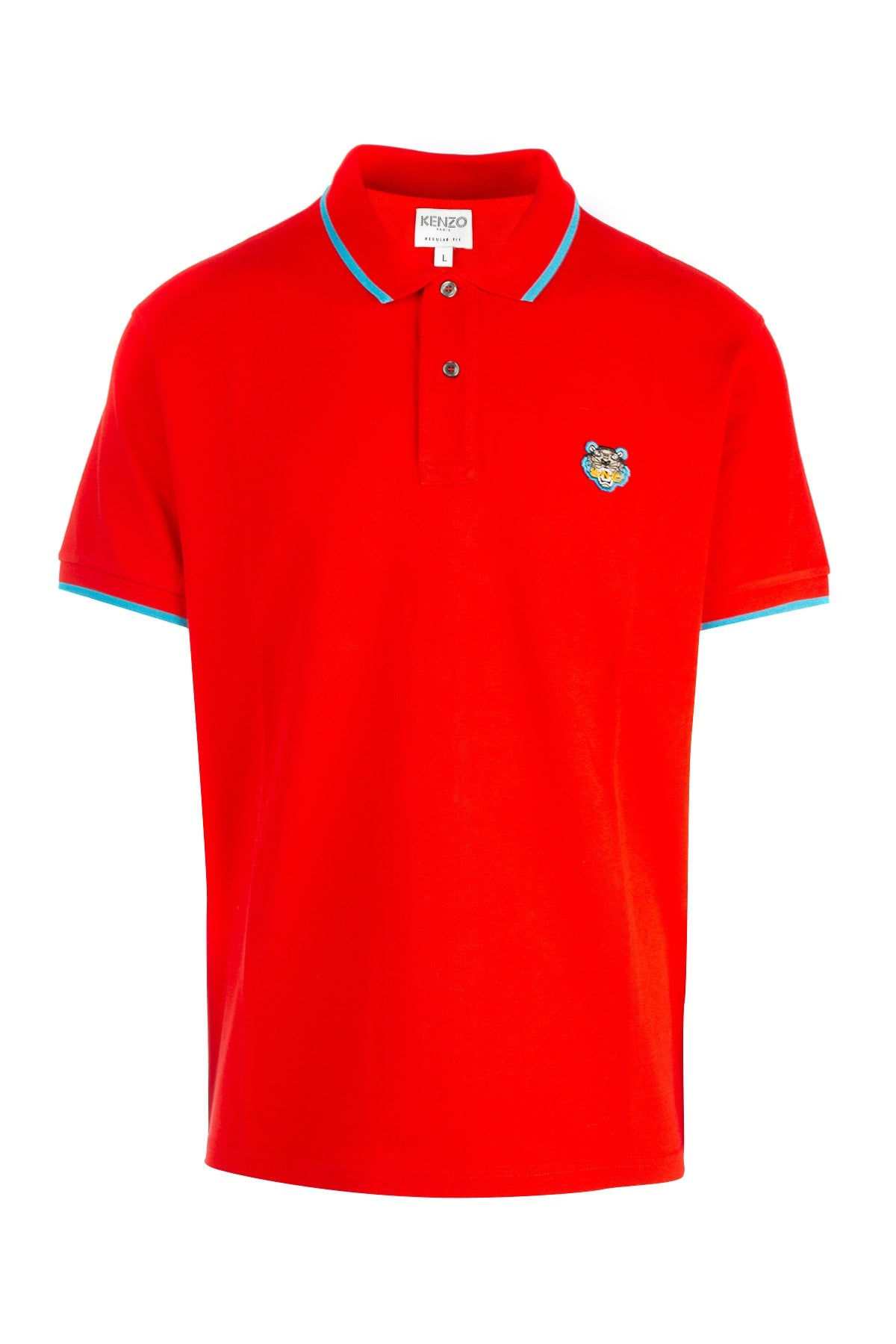 Kenzo Tiger Crest Polo Shirt In Red