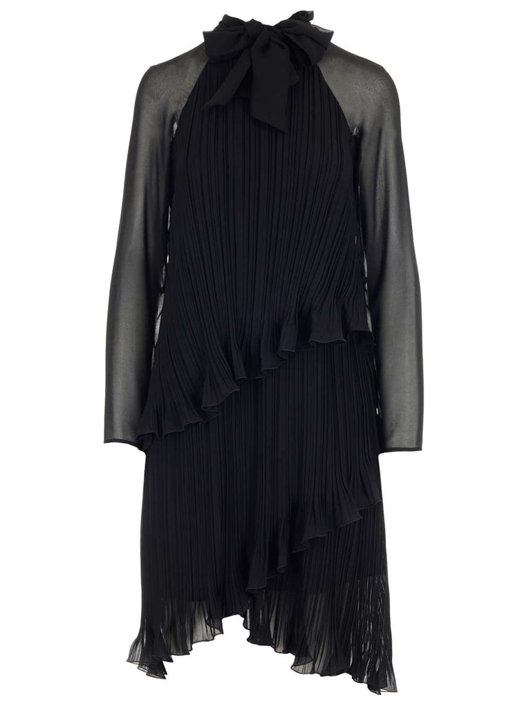 MAX MARA MAX MARA RUFFLED ASYMMETRIC HEM DRESS