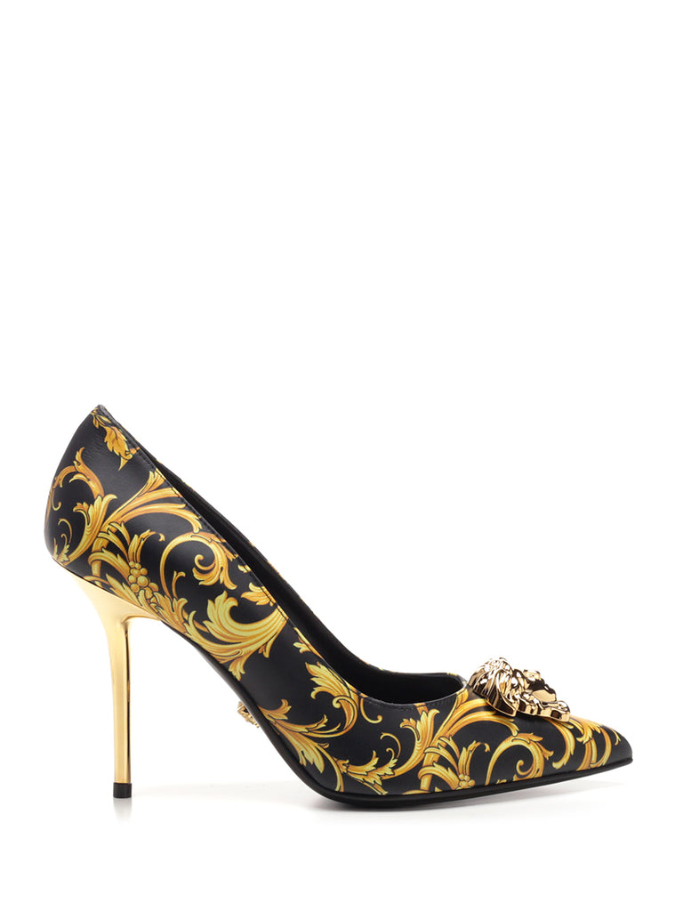 Versace Printed Medusa Plaque Pumps