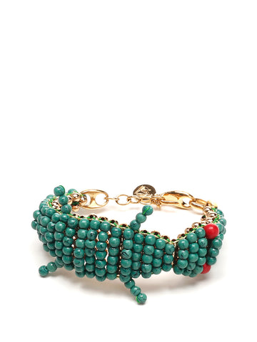 Lanvin Beaded Crocodile Bracelet