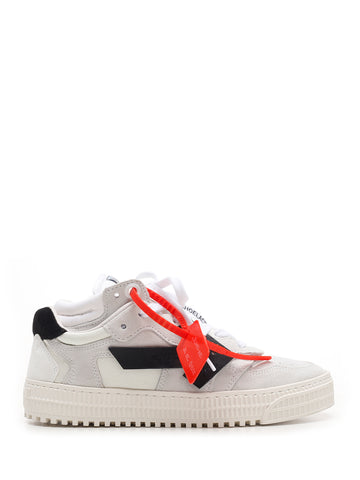 Off-White Contrasting Panelled Sneakers