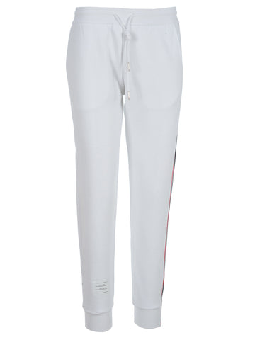 Thom Browne Logo Patch Side Band Sweatpants