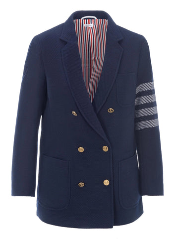 Thom Browne 4-Bar Jacquard Sports Blazer